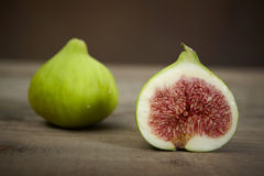 Fresh green figs Royalty Free Stock Images