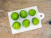 Fresh green figs Stock Photo