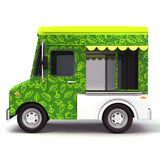Fresh green food truck side Stock Images