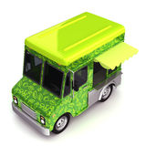 Fresh green food truck top Stock Image