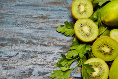 fresh green fruits and vegetables Royalty Free Stock Image
