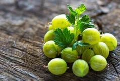 Fresh green gooseberries Royalty Free Stock Image