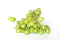 Fresh green grapes. Isolated on white Stock Images