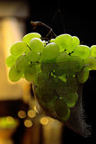 Fresh green grapes fruit Royalty Free Stock Photos