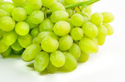 Fresh green grapes isolated on white background Stock Image