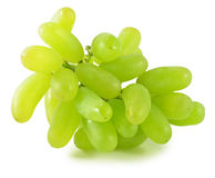 Fresh green grapes isolated on white background Royalty Free Stock Photos
