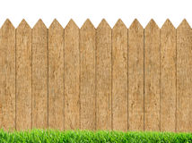 Free Fresh Green Grass Over Wood Fence Background Stock Photography - 85528602