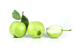 Fresh green Guava fruit  on white background Stock Photo