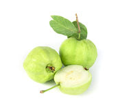 Fresh green Guava fruit  on white background Stock Images