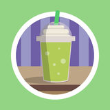 Fresh Green Ice Blend Illustration Stock Photos