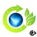 Fresh Green Icon. Fresh green and blue icon illustration stock illustration