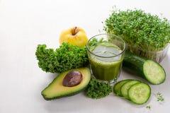 Fresh green juice for detox Royalty Free Stock Photo