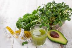 Fresh green juice for detox Stock Image