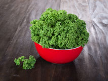 Fresh green kale leaves Royalty Free Stock Photo
