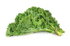 Fresh green kale leaves. Vegetable  isolated  on white background Royalty Free Stock Image