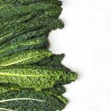 Fresh Green Kale on white background. Copy space royalty free stock photo