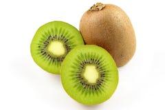 Fresh green kiwi fruits isolated on a white background Stock Image