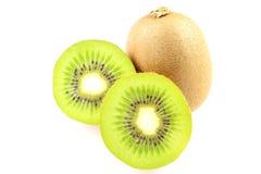 Fresh green kiwi fruits isolated on a white background Stock Photography