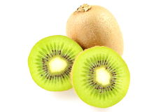 Fresh green kiwi fruits  on a white background Royalty Free Stock Photography