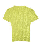 Fresh green knitted  turtleneck Royalty Free Stock Photography