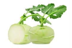 Fresh green kohlrabi Stock Photos