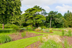 Fresh green landscape of formal garden at summer Royalty Free Stock Image