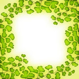 Fresh green leaves frame Royalty Free Stock Photo