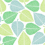 Fresh green leaves seamless background Stock Image
