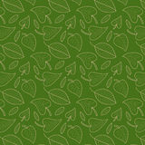 Fresh green leaves vector seamless pattern. Foliage background. Endless texture used for wallpaper, textile printing. Royalty Free Stock Photography