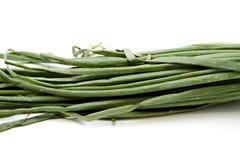 Fresh Green Leek. On white background Stock Photo