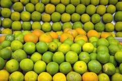 Fresh green lemon in Delhi market Stock Photography