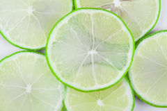 Fresh green lime. Close up. Summer fruits. Food ingredients stock photography