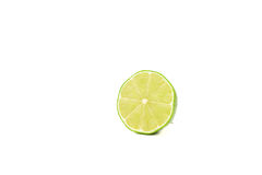 Fresh Green Lime Cut Of Half Stock Photography