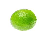 Fresh Green Lime Isolated on White Background. Vector Illustration. Stock Photos