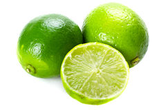 Fresh green limes Stock Photography
