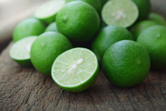 Fresh green limes Royalty Free Stock Images