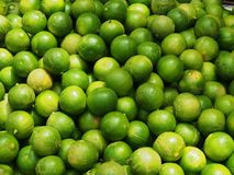 Fresh green limes Royalty Free Stock Image