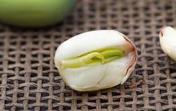 Fresh green lotus seed (lotus nut) Royalty Free Stock Photos