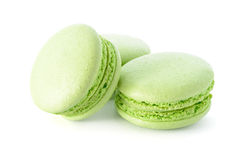 Fresh green macarons Stock Photo