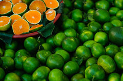 Fresh Green Mandarin Royalty Free Stock Photography