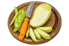 Fresh Green mango isolated on white background Royalty Free Stock Images