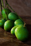 Fresh Green mangoes in Thailand Royalty Free Stock Photography