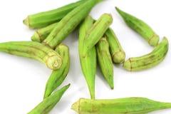 Fresh green okra Royalty Free Stock Image