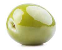 Fresh green olive Royalty Free Stock Photos
