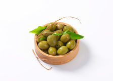 Fresh Green Olives Stock Photo