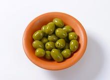 Fresh Green Olives Stock Image