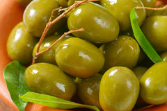 Fresh Green Olives Royalty Free Stock Image