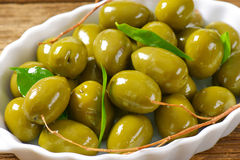 Fresh Green Olives Stock Images