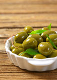 Fresh Green Olives Royalty Free Stock Images