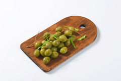 Fresh green olives Royalty Free Stock Photos
